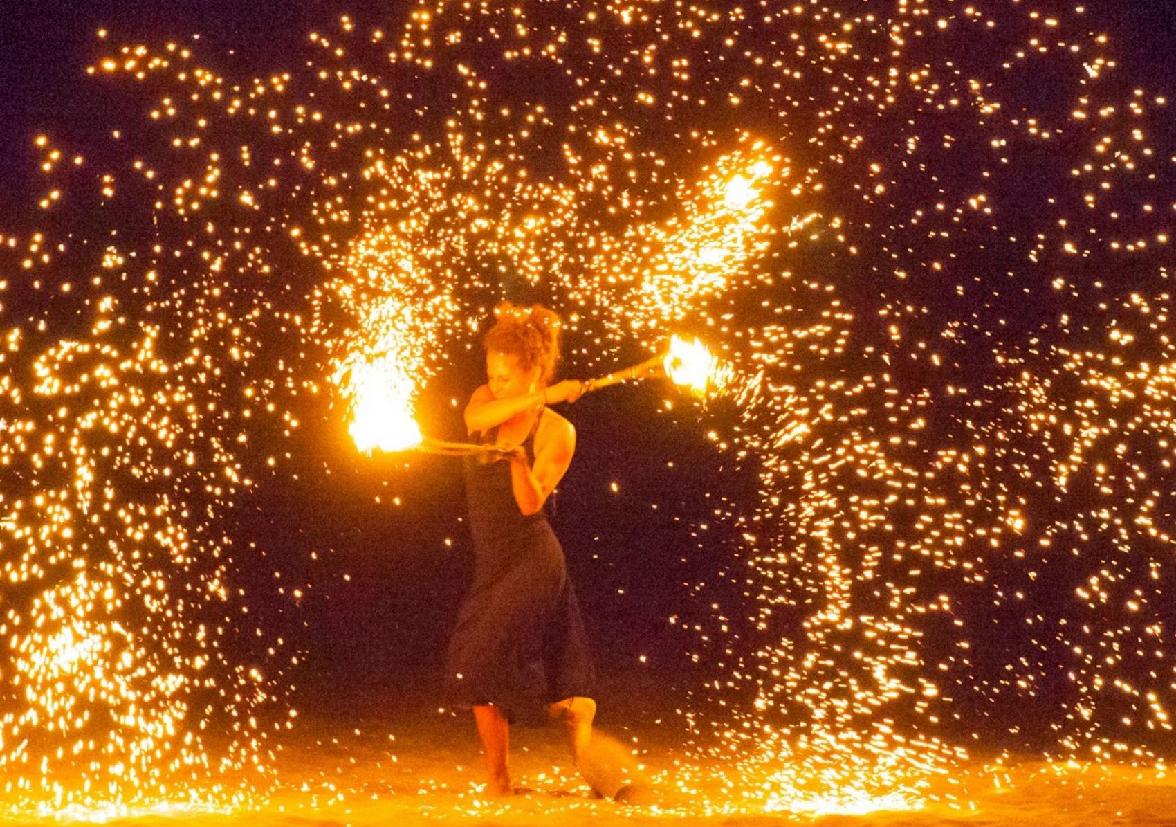 """""""Burning Stone"""", performance"""
